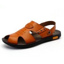 Popular design and mens fashion leather sandal