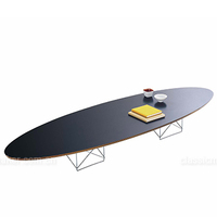 Best Selling Factory Price cafe furniture Elliptical Surfboard Low Coffee Table