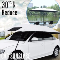 SUNCLOSE Factory waterproof car protective cover windscreen shades gel handle umbrella