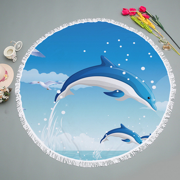 High Quality Sand Free Quick Dry 150CM Customzied Round Towel Beach