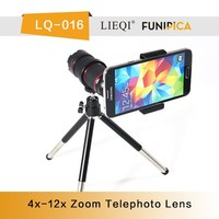 Mobile phone Camera Lens 4x 12x Zoom telescope universal clip telephoto for iphone