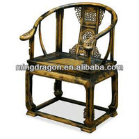 Chinese Antique Ming style wooden carved arm chair