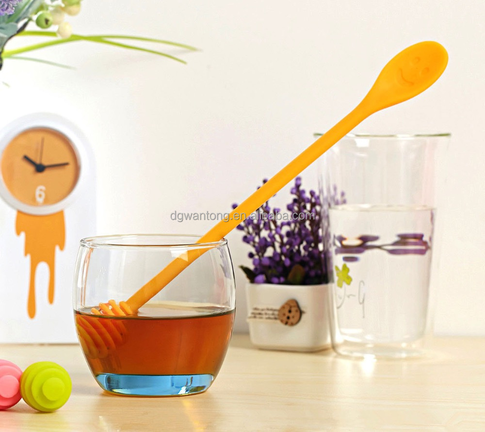 Cute silicone honey dipper server