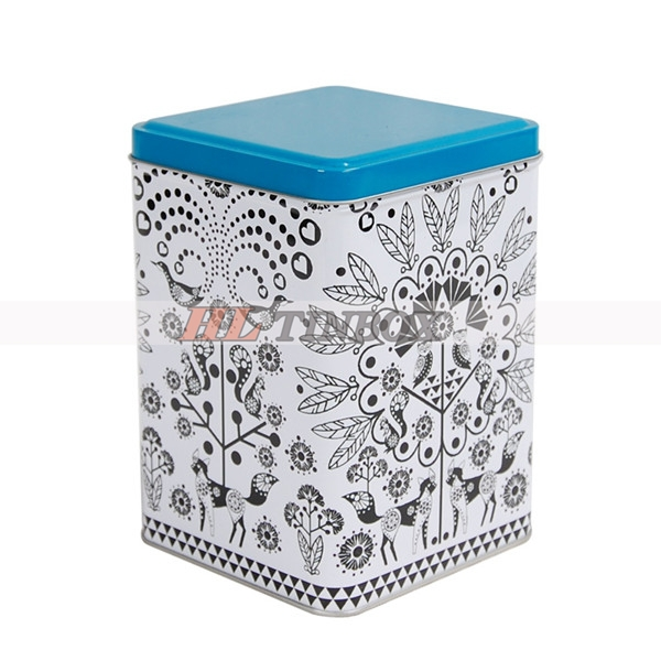 Square Tea Tin Box for Tea Packing