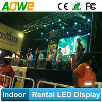 2015 AOWE Hanging led light panel, led curtain mesh, video wall led screen