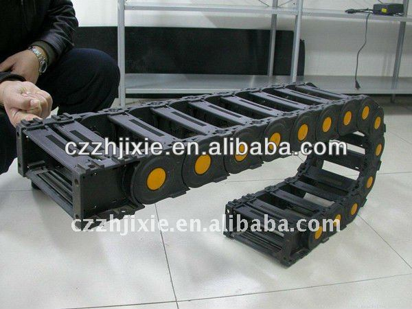 Drag chain cable carrier for CNC machine