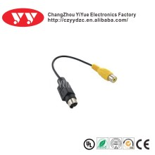 M12 male cable connector S-video Cable Min 4pin To Rca Male