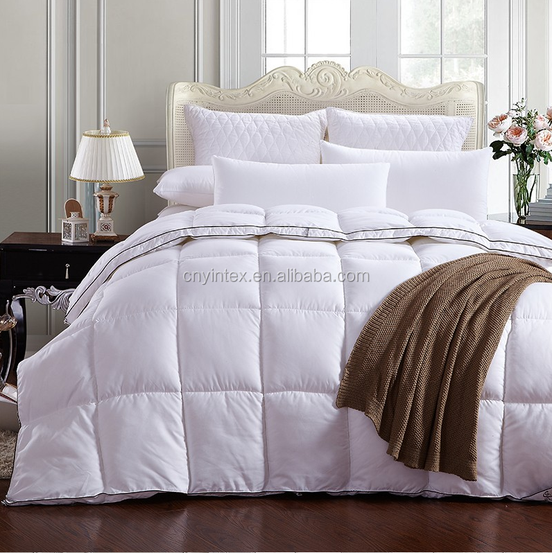 Yintex 2016 White Goose Down Breathable Comforter with Corner Duvet Tabs