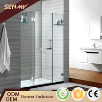 Chian Foshan factory 304 stainless steel hinge bathroom shower 3 panel folding bathtub shower door