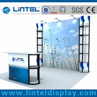 10*10ft economic fashion display booth for trade show