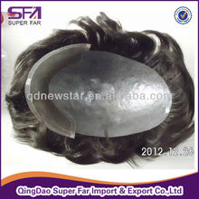 injected pu human hair men's toupee