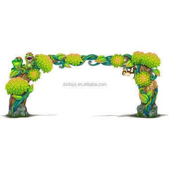 Fiberglass Playground Tree Entrance