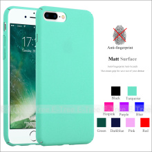 Luxury Full Cover Ultra Slim Forsted hard PC Matte Colorful Phone Case Back Cover For Apple iPhone 7 Plus