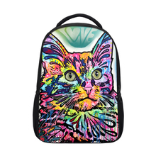 Custom animal children cute cat printed <strong>school</strong> fashion 3D backpack for girl