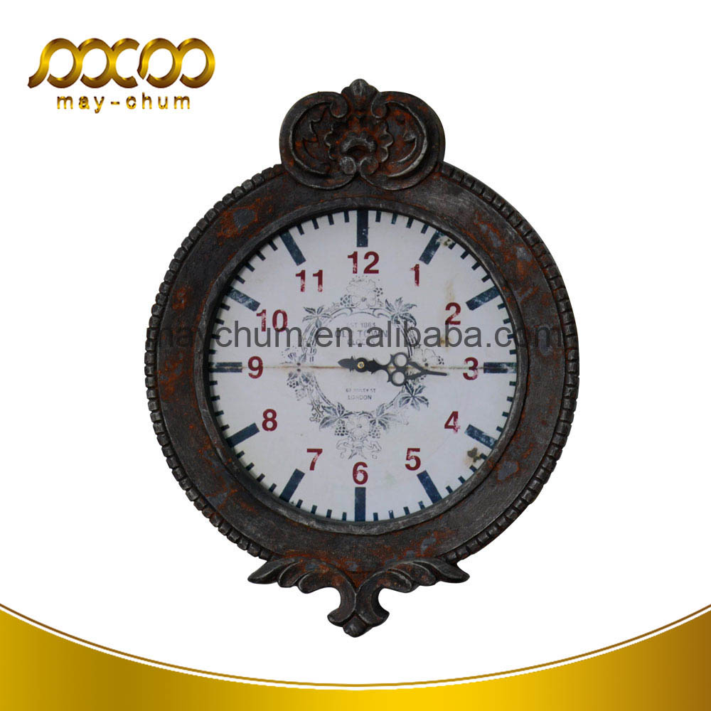 Vintage Home Decorative Metal Retro Finish Round Wall Mounted Clocks China