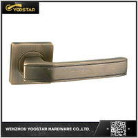 Wenzhou top quality square rose Antique brass zinc door handle