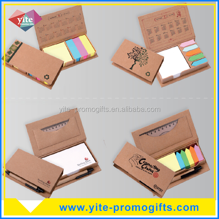 Promotional multi-function multi-colour sticky notes with pen