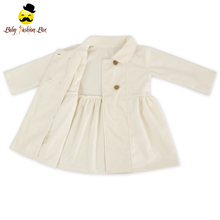 2017 Children Clothing Medium Length Double Breasted Design Girls Coats Jackets Winter Wool Girl Coat