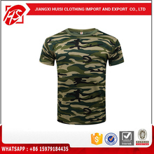 hot sale camouflage printed t shirts 100% cotton camo printed t shirts