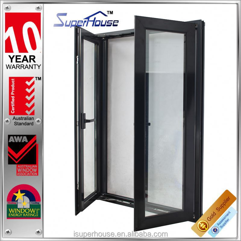Elegant designed Thermal break aluminum single window double glazing and modern style