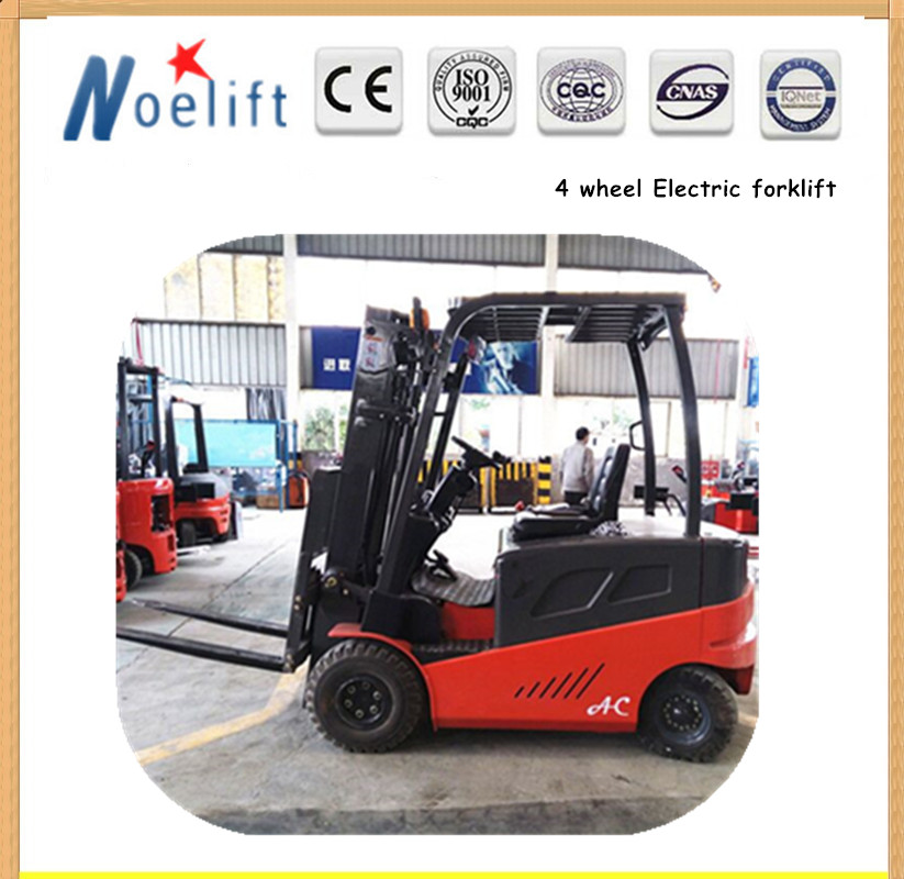 high tech 4 wheel electric counterbalance forklift for export
