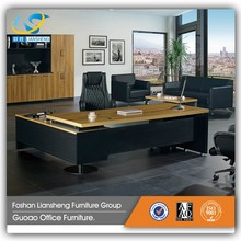 Factory directly sale modern office computer table design wooden office executive table picture GAD-20
