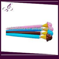 Low Price plastic colorful flower Cartoon ballpoint pen
