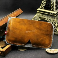 Classical retro pu leather pouch case for iphone 5c new product made in China wholesale for iphone accessories