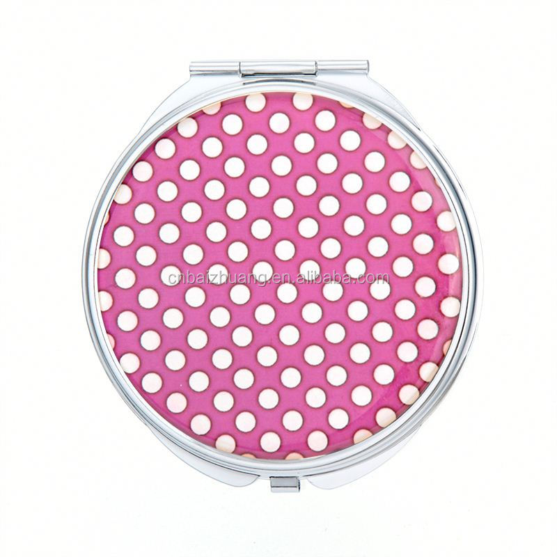 custom made pocket mirrors ladies compact mirrors professional makeup brush set