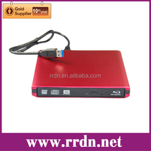 USB3.0 External Blue Ray Burner With Red Color Enclosure Case