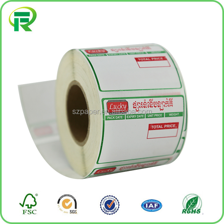 Factory wholesale barcode label sticker transfer thermal labels