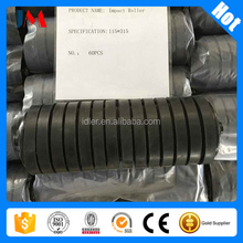 Rubber coating conveyor roller for coal mine bulk material handing