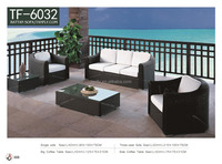 SGS Outdoor Rattan Wicker 3- Seater sofa & Single Sofa Patio Furniture Set. TF-6032