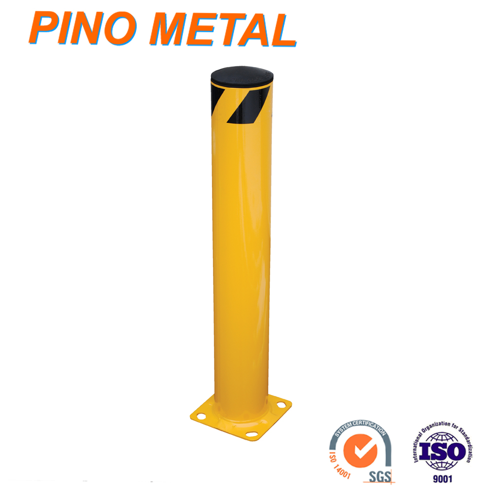 Factory Yellow powder coating Mild Steel pipe Bollards from OEM
