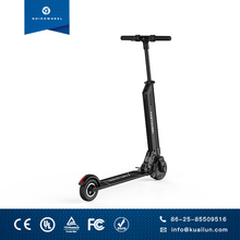 Black foldable and portable which mobility scooter