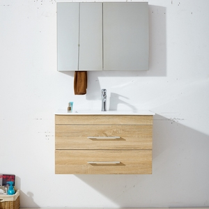 High Quality Royal Mirror Double Single Basin Bathroom Cabinet