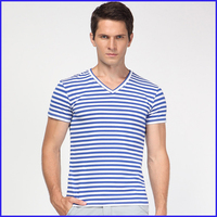 100% cotton t-shirts manufacturers full hand deep v neck t shirts for men