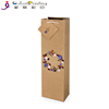 Personalized Single Wine Packing Bags Kraft Paper Gift Bags with Bottle Packaging