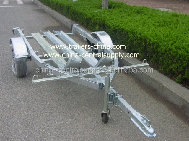 GALVANIZED 3.4M DOUBLE MOTORCYCLE TRAILER
