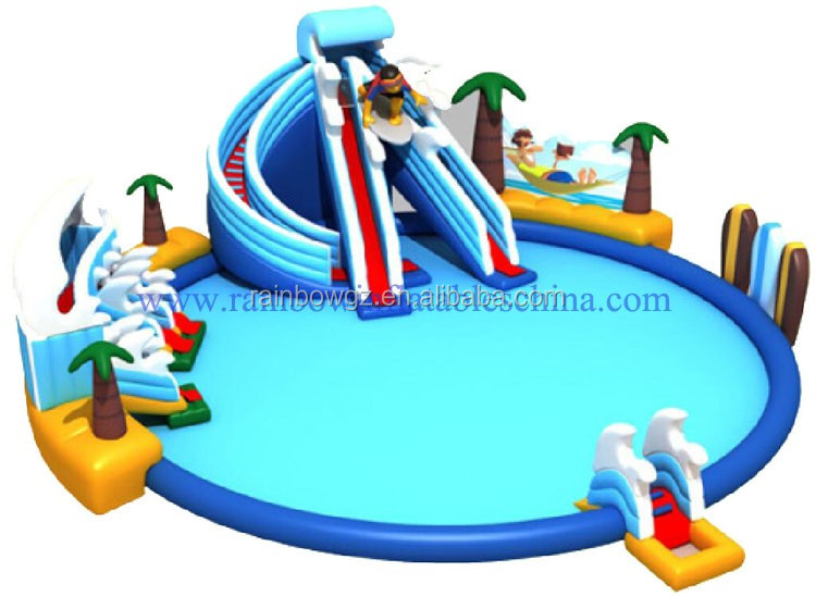 Inflatable Slide For Pool / Adult Water Slide / Inflatable Water Park