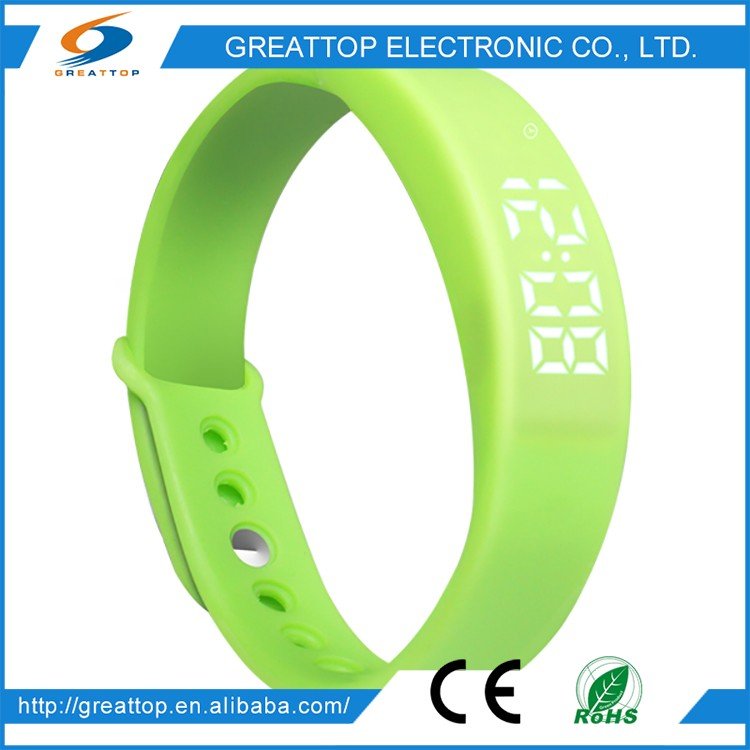 Wholesale China Merchandise smart bracelet watch wearable wrist fitness alarm