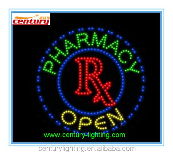 pharmacy open animated led sign
