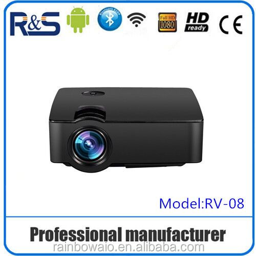 2016 new arrival professional projector with digital tv turner , LCD design mini HDMI&USB port direct connect mobiles with wifi