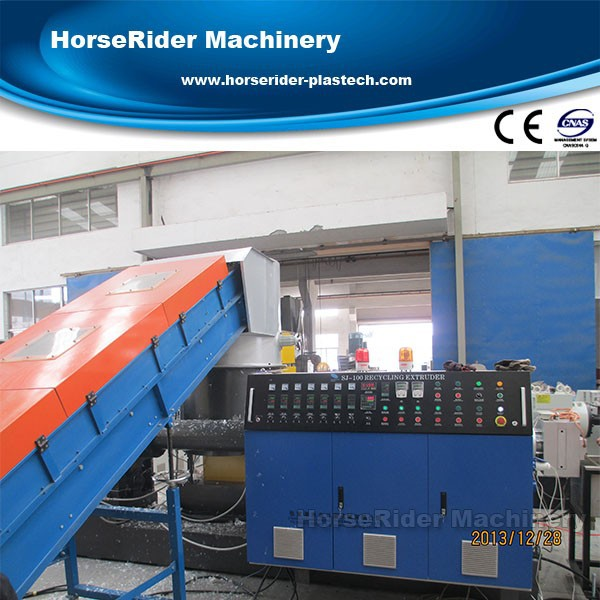 Good quality pp pe double stage granulating machine/pelletizing recycling line
