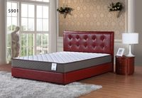 high quality living room furniture bed solid wood leather bed