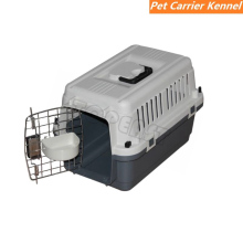 Plastic Dog / Cat Pet Kennel Carrier or Air Travel with Chrome Door and Free Cup Foldable Dog Travel Crate