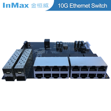 Customized Industrial 100/1000M 4 10G SFP+ 16 port Ethernet PoE switch for CCTV IP camera