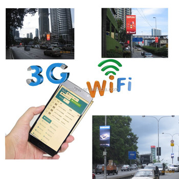 wireless 3G P10 outdoor led digital sign board