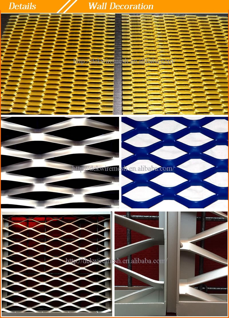 Stainless steel lightweight expanded metal mesh sheets