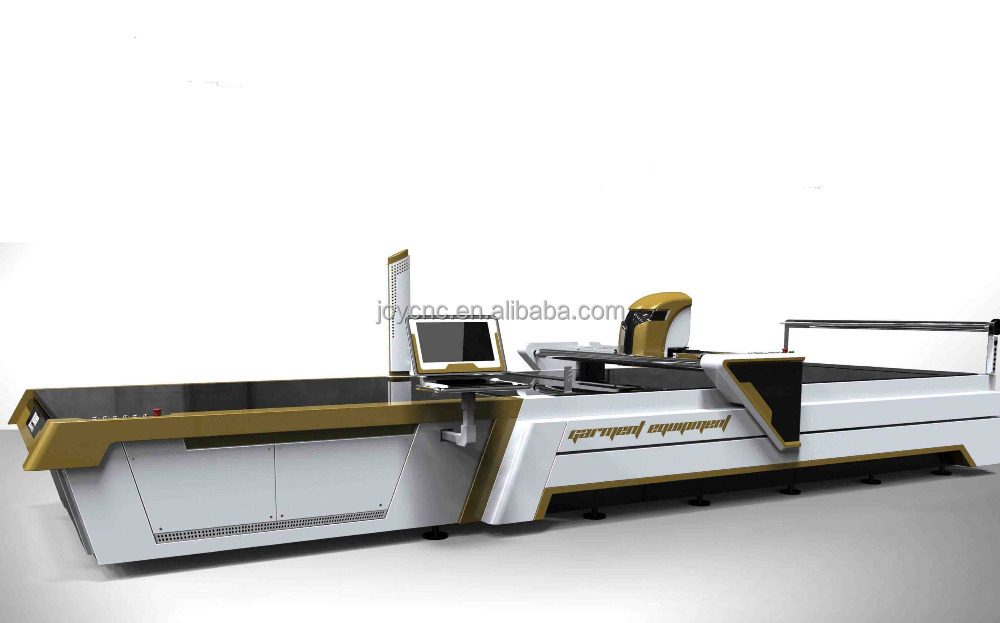 ultrasonic/computerized fabric cutting machine with auto feeding system oscillating knife multi-ply auto cutter